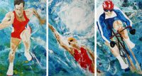 Different Strokes - triptych by Banx MC6179