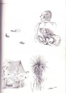 Baby & Cabbage Tree by Banx
